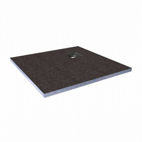 Abacus Elements Square Level Access Shower Tray 30mm High With Corner Drain - 1000mm x 1000mm